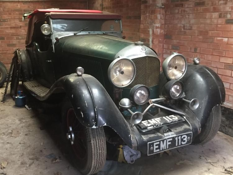 Original Bentley 4.5 litre to be sold at H&H this week.