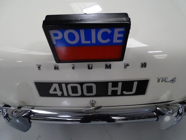 Triumph TR4 Police Car to feature at H&H