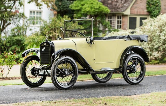 Bonhams record for a pram hood Austin Seven Chummy