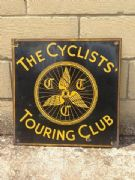 Enamel sign - bicycle