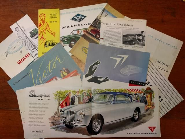 Brightwells Timed Auction of Classic & Vintage Car Brochures and other Automobilia